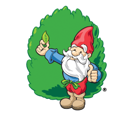 The gnome knows lawn care