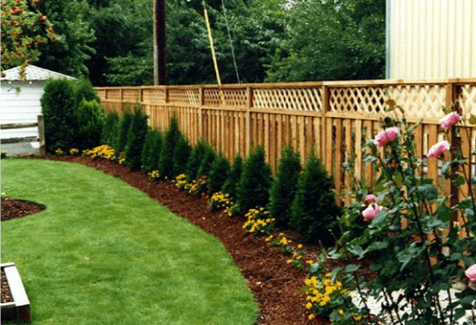Fence Line Gardening Arbor Nomics